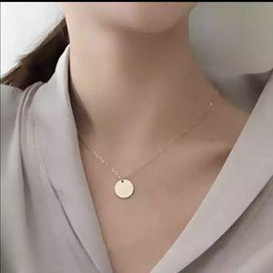 New Gold chocker circle necklace